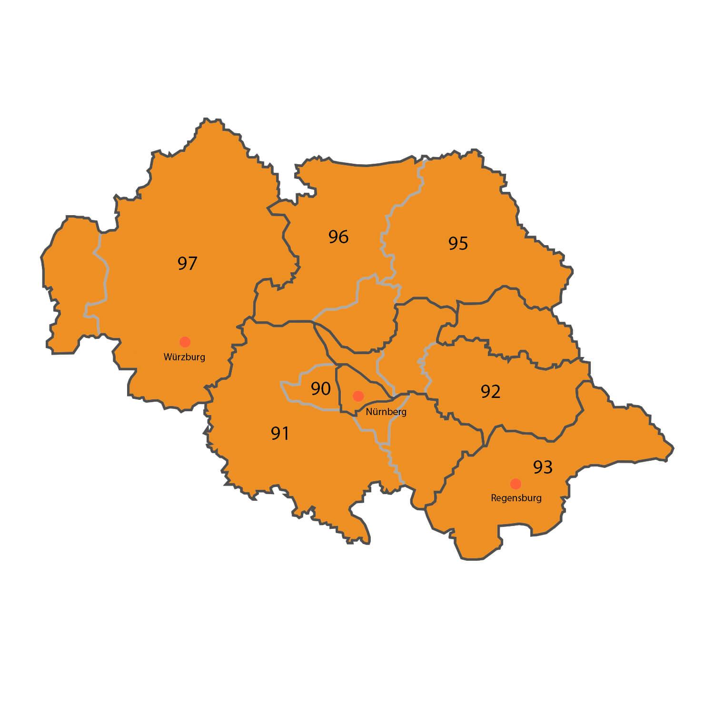 Gebietskarte - Alexander Schäffler