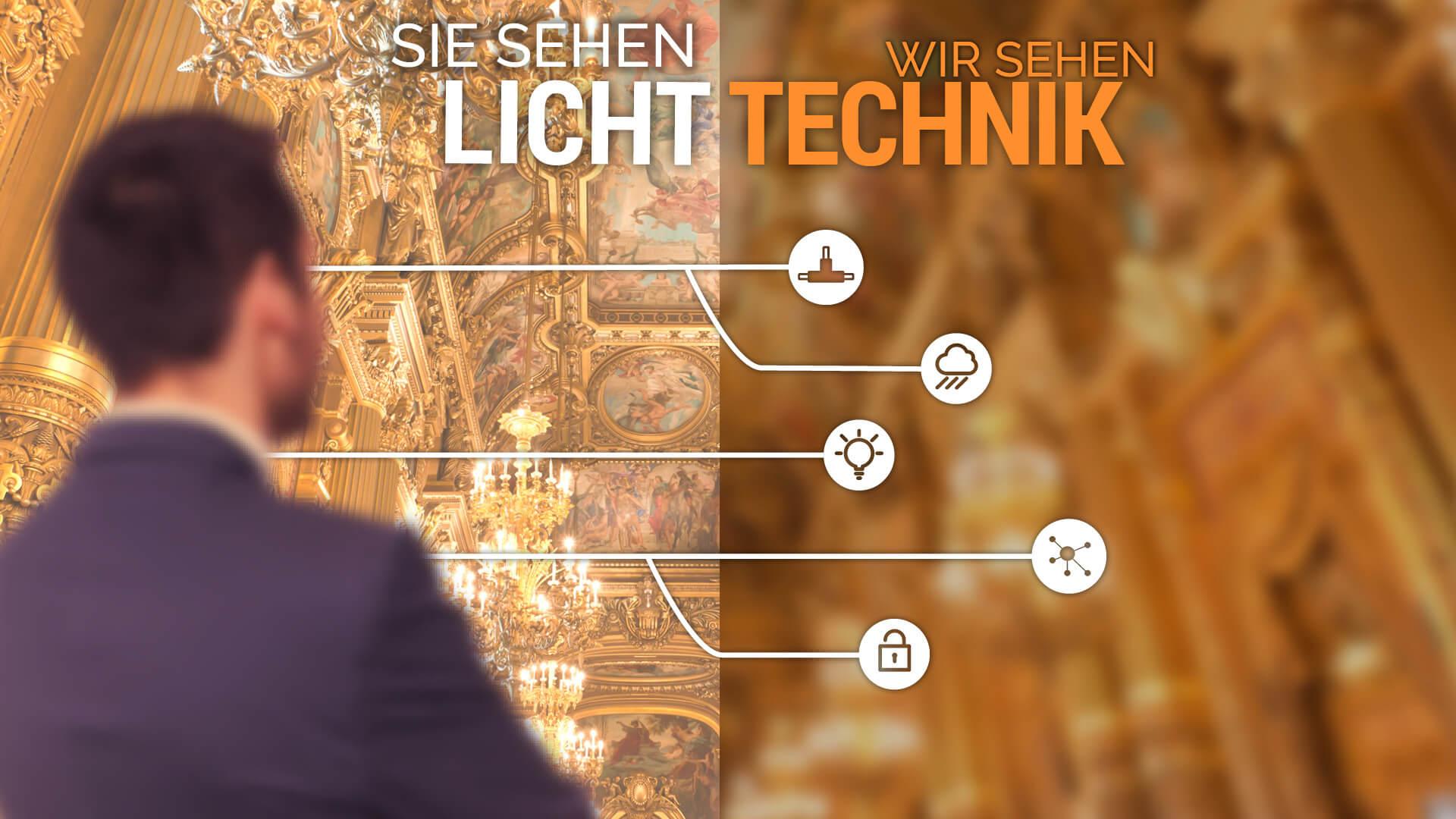 Sie sehen Licht - Wir sehen Technik